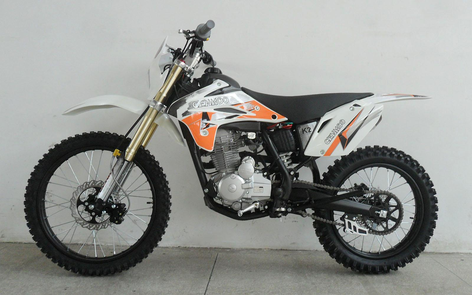 cenkoo k2 250cc 21 18 enduro motocross dirt bike white ebay. Black Bedroom Furniture Sets. Home Design Ideas