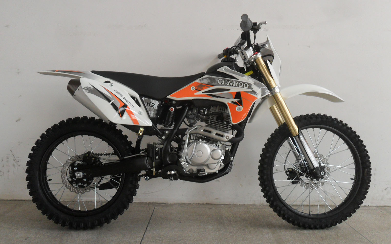 cenkoo k2 250cc 21 18 enduro motocross dirt bike white ebay. Black Bedroom Furniture Sets. Home Design Ideas