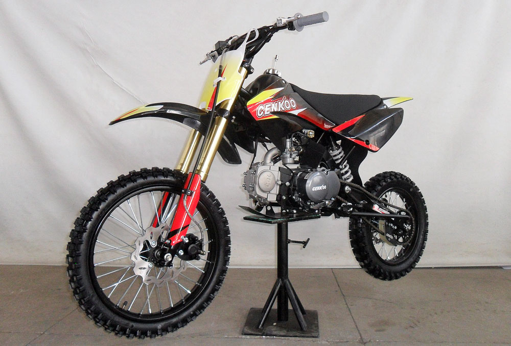 cenkoo cenkoo 125 125cc 17 14 cross dirt bike pit bike. Black Bedroom Furniture Sets. Home Design Ideas