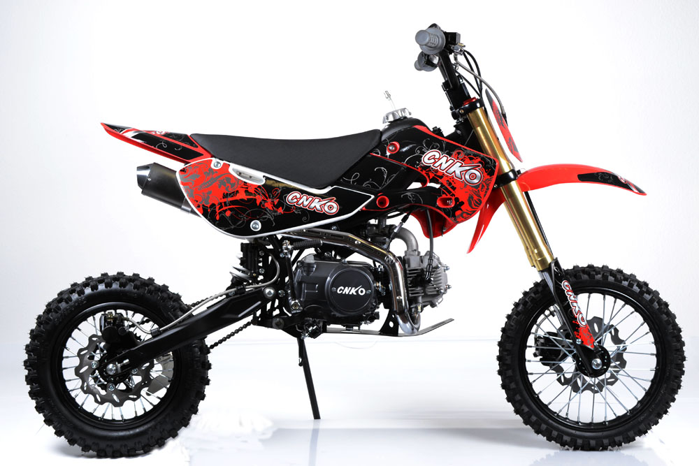 cenkoo cnko 125 125cc 14 12 cross dirt bike pit bike rouge ebay. Black Bedroom Furniture Sets. Home Design Ideas