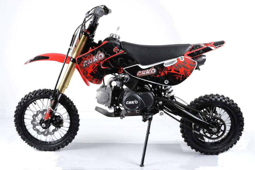 cenkoo cnko 125 125cc 14 12 cross dirt bike pit bike rouge. Black Bedroom Furniture Sets. Home Design Ideas