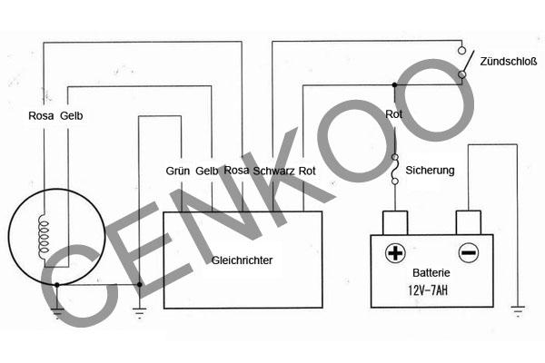universal gleichrichter regler 12v 5polig f dirt bike. Black Bedroom Furniture Sets. Home Design Ideas