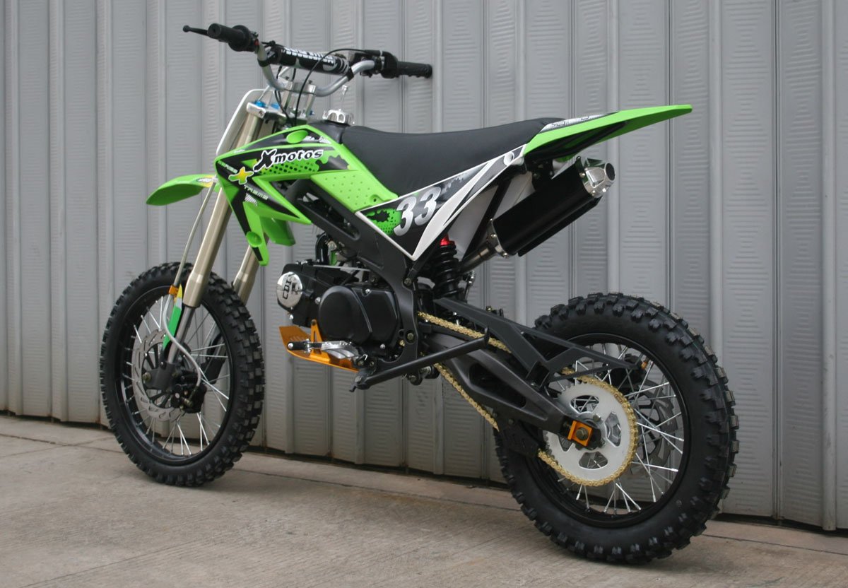 cenkoo xmotos xb 33 125cc 17 14 cross dirt bike gr n ebay. Black Bedroom Furniture Sets. Home Design Ideas